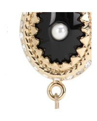 Givenchy | Black Embellished Clip-on Earrings | Lyst