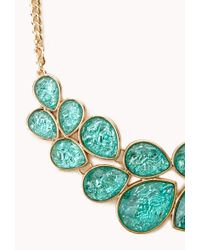 Forever 21 - Blue Statement Bib Necklace - Lyst