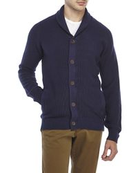 Timberland | Blue Shawl Collar Knit Cardigan for Men | Lyst
