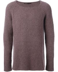 Haider Ackermann | Purple Ribbed Knit Sweater for Men | Lyst