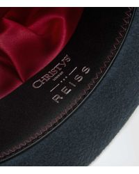 Reiss | Blue Salma Christys Fedora | Lyst