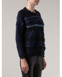 James Long | Blue Striped Jumper | Lyst