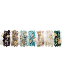 Sequin | Black Color Karma Power Elephant Bracelets, Set Of 3 | Lyst