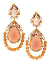 kate spade new york | Multicolor Amalfi Mosaic Earrings Pinkorange | Lyst