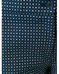 Etro - Blue Printed Slim Trousers - Lyst