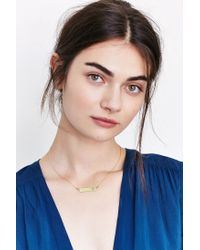 Urban Outfitters | Metallic Pawprint Bar Necklace | Lyst