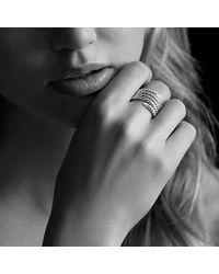 David Yurman - Metallic Willow Serpentine Ring With Diamonds - Lyst