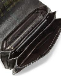 Prada - Green Tartan-Plaid Leather Shoulder Bag - Lyst