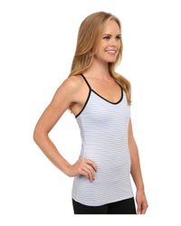 New Balance | Blue Strappy Long Bra | Lyst
