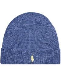 Ralph Lauren | Blue Merino Wool Beanie for Men | Lyst
