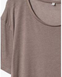 Baserange - Brown Loose Tee In Taupe - Lyst