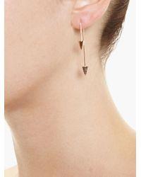 Asherali Knopfer   Pink Interchangeable Diamond Spike Bar Earring   Lyst
