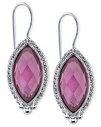 2028 | Purple Navette Drop Earrings | Lyst