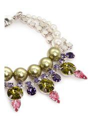 Joomi Lim   Pink 'organized Chaos' Spike Stud Crystal Chain Bracelet   Lyst