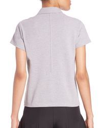 Opening Ceremony - Gray Torch Short-sleeve Polo - Lyst