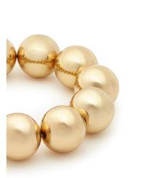 Kenneth Jay Lane - Metallic Oversize Sphere Bead Bracelet - Lyst