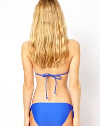 Seafolly   Blue Jazz Club Hipster Tie Side Bikini Pant   Lyst