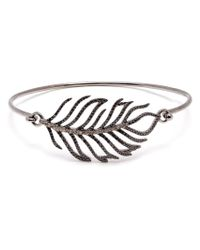 Rosa De La Cruz | Metallic Diamond Feather Bangle | Lyst