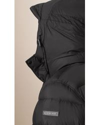 Burberry - Black Lightweight Down-filled Puffer Jacket for Men - Lyst