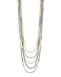 Nakamol | Green Long Multi-strand Agate & Crystal Necklace | Lyst