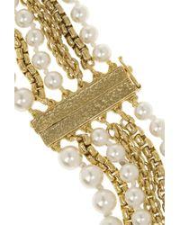 Rosantica - Metallic Himalaya Gold-Dipped Pearl Necklace - Lyst