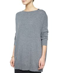 Eileen Fisher | Gray Felted Merino Tunic | Lyst