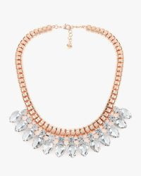 Ted Baker | Metallic Crystal Chain Necklace | Lyst