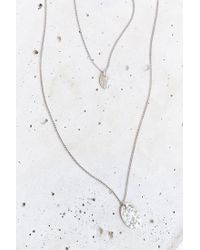 Urban Outfitters | Metallic Hammered High/low Necklace | Lyst