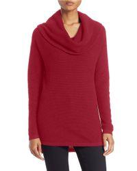Lord & Taylor - Multicolor Plus Drop-shoulder Cowl-neck Sweater - Lyst