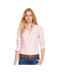 Polo Ralph Lauren | Pink Custom-fit Oxford Shirt | Lyst