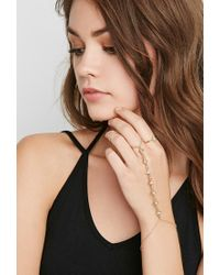 Forever 21 | Metallic Handchain And Ring Set | Lyst