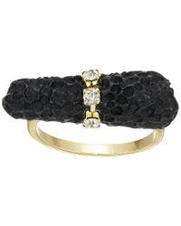 Sam Edelman - Black Pave Crystal Ring - Lyst