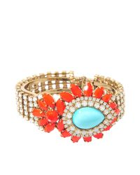 Helene Zubeldia - Orange Khon Crystal Multicoloured Bracelet - Lyst