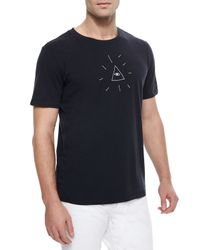 Rag & Bone | Black Eye Of Providence Graphic T-Shirt for Men | Lyst