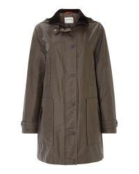 Cloud Nine | Green Funnel Neck Single Breasted Jacket | Lyst