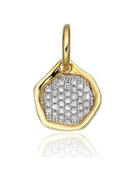 Monica Vinader | White Riva Diamond Mini Pendant | Lyst