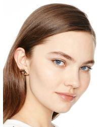 kate spade new york - Black Kiss And Make Up Wink Studs - Lyst