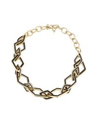 Kenneth Jay Lane | Metallic Statement Necklace - Multicolor | Lyst