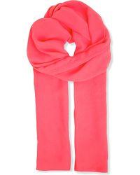 Max Mara Pianoforte Pink Silk Scarf - For Women