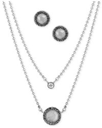 Lucky Brand - Metallic Silver-tone Crystal And Stone Jewelry Set - Lyst