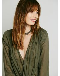 Free People - Green Fp One Womens Fp One Textured Solid Crop Wrap - Lyst