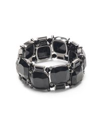 Ralph Lauren | Black Jet-toned Stretch Bracelet | Lyst