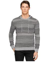 Calvin Klein - Black Ck One Space-dyed Stripe Slim-fit Hoodie for Men - Lyst
