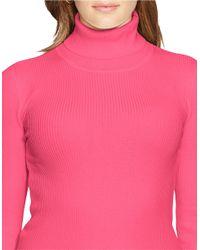 Lauren by Ralph Lauren | Pink Plus Turtleneck Sweater | Lyst
