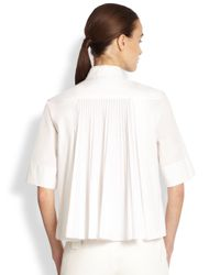Akris Punto | White Plisse Back Blouse | Lyst