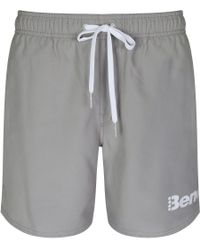 Bench - Gray Reeth Drawstring Swimming Shorts for Men - Lyst