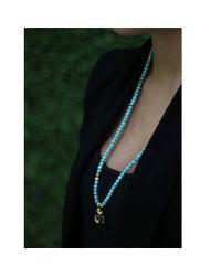 Shamballa Jewels - Blue Turquoise Ohm Necklace - Lyst