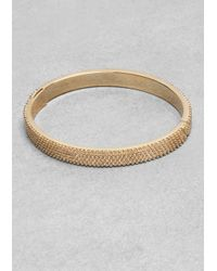 & Other Stories | Metallic Ball Studded Brass Bangle | Lyst