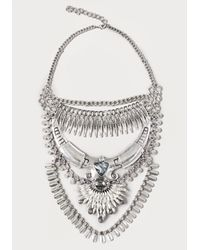 Bebe | Metallic Layered Statement Necklace | Lyst