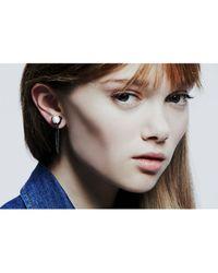 Colette Malouf   Metallic Pearl Stud Ear Chain   Lyst